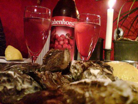 feiste Meeresbewohner mit Beerensekt