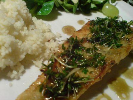 Fisch mit Kresse 1