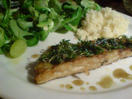 Fisch mit Kresse 2