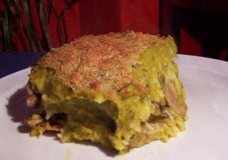 Kürbis-Reis-Auflauf mit Dill und Käse