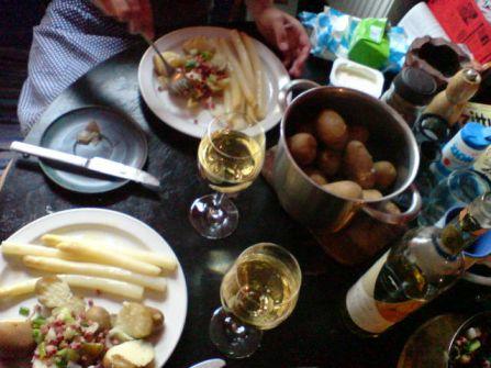 Spargel und Kartoffel