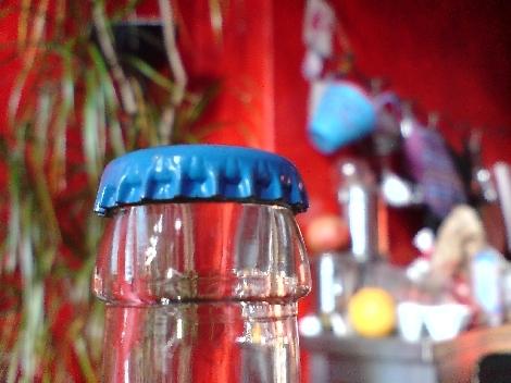 blauer kronkorken