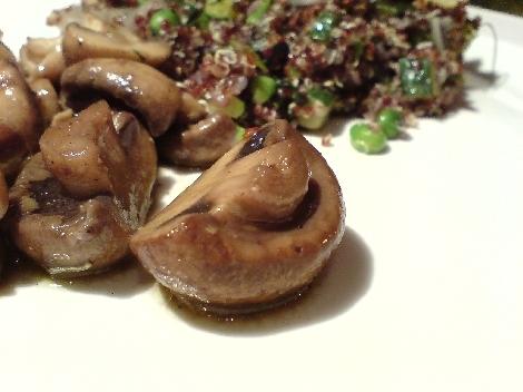 champignon zu rot quinua