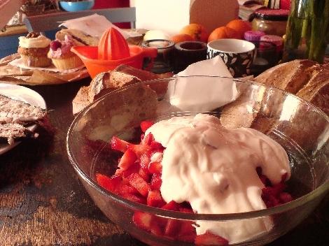 erste fruehjahrsfruehstuecksvorbereitungen