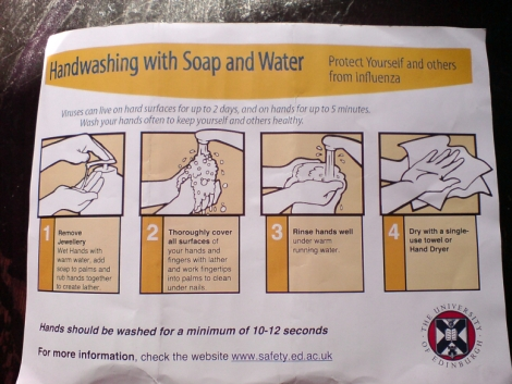 handwashing with soap and water
