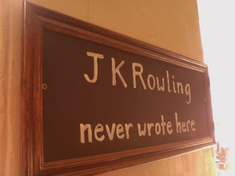 jkrowling never wrote here