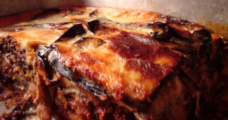 moussaka vegetarisch im anschnitt