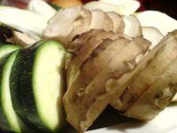 topinambur und zucchini gescheibelt