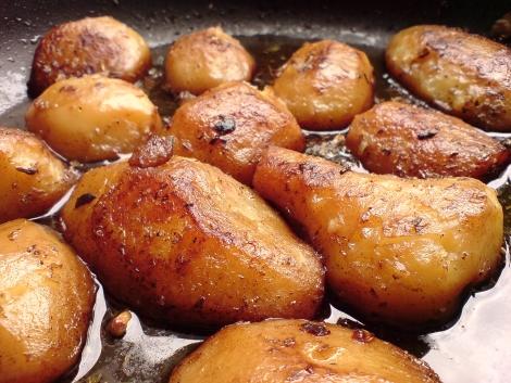 weinsaucenkartoffeln huebsch durchgezogen im zweiten durchgang