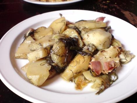 wunderbar fenchelzart durchgezogene kartoffeln scheibchenweise