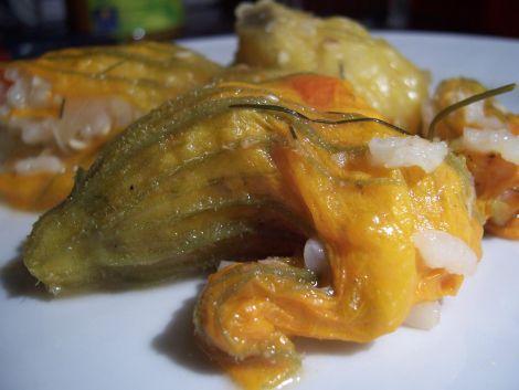 zucchini und kuerbisblueten in nachbereitungsphasenabschnittszelebrierungsdarreichungsvorschlag